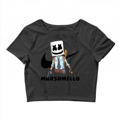 funny fornite marshmello and the gun Crop Top | Artistshot