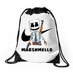 funny fornite marshmello and the gun Drawstring Bags | Artistshot