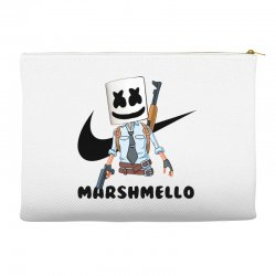 funny fornite marshmello and the gun Accessory Pouches | Artistshot