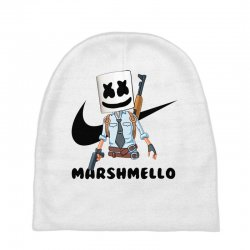 funny fornite marshmello and the gun Baby Beanies | Artistshot