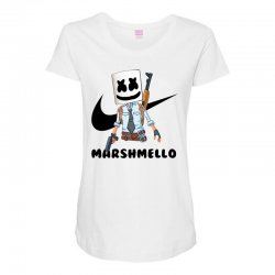 funny fornite marshmello and the gun Maternity Scoop Neck T-shirt | Artistshot