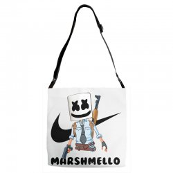 funny fornite marshmello and the gun Adjustable Strap Totes | Artistshot