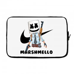 funny fornite marshmello and the gun Laptop sleeve | Artistshot