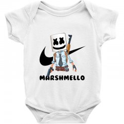 funny fornite marshmello and the gun Baby Bodysuit | Artistshot