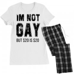 i'm not gay but $20 is $20   black Women's Pajamas Set | Artistshot