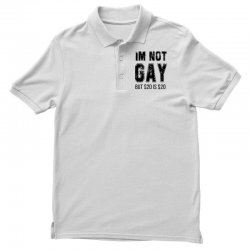 i'm not gay but $20 is $20   black Polo Shirt | Artistshot