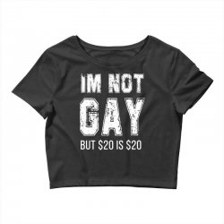 i'm not gay but $20 is $20 Crop Top | Artistshot