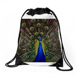 blue and green peacock Drawstring Bags | Artistshot
