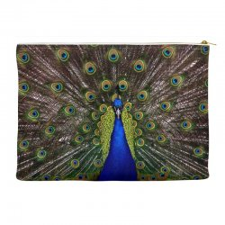 blue and green peacock Accessory Pouches | Artistshot