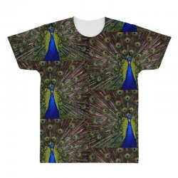 blue and green peacock All Over Men's T-shirt | Artistshot
