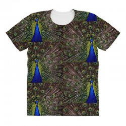 blue and green peacock All Over Women's T-shirt | Artistshot