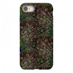 blue and green peacock iPhone 8 Case | Artistshot