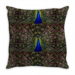 blue and green peacock Throw Pillow | Artistshot