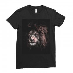 lion painting Ladies Fitted T-Shirt | Artistshot