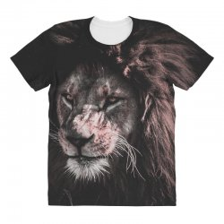 lion painting All Over Women's T-shirt | Artistshot