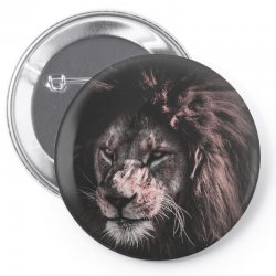 lion painting Pin-back button | Artistshot
