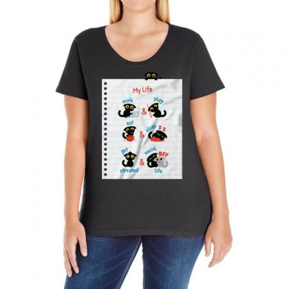 My Life Ladies Curvy T-shirt Designed By Bertaria