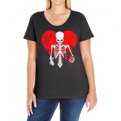 My Bloody Valentine Ladies Curvy T-shirt Designed By Bertaria