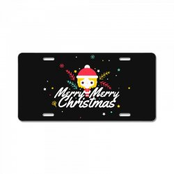 merry christmas License Plate | Artistshot