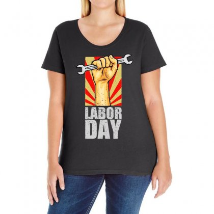 Labor Day Ladies Curvy T-shirt Designed By Bertaria
