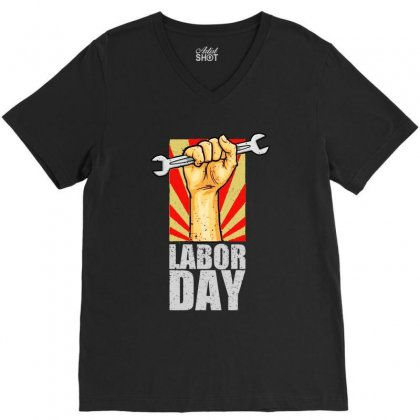 Labor Day V-neck Tee Designed By Bertaria