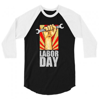 Labor Day 3/4 Sleeve Shirt Designed By Bertaria