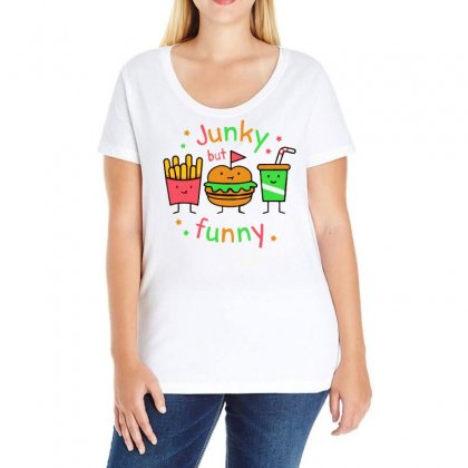 Junky But Funny Ladies Curvy T-shirt Designed By Bertaria