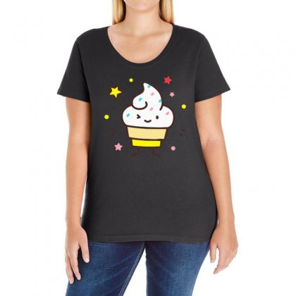 Ice Cream Ladies Curvy T-shirt Designed By Bertaria