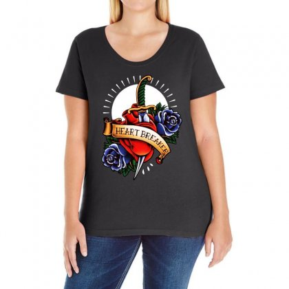 Heart Breaker Ladies Curvy T-shirt Designed By Bertaria