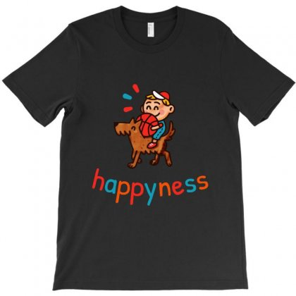 Happyness T-shirt Designed By Bertaria
