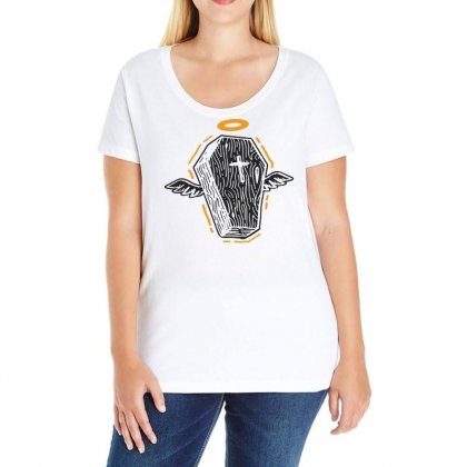 Grave In Paradise Ladies Curvy T-shirt Designed By Bertaria
