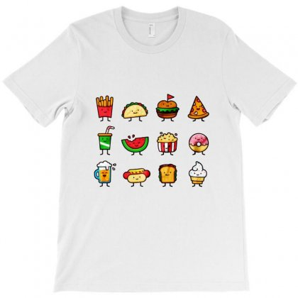 Food Doodle T-shirt Designed By Bertaria
