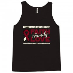 faith family love head and neck cancer for dark Tank Top | Artistshot