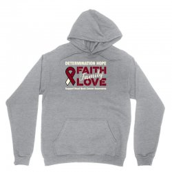 faith family love head and neck cancer for dark Unisex Hoodie | Artistshot