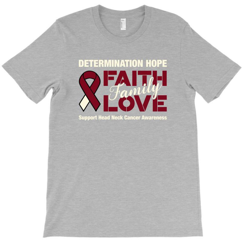 Faith Family Love Head And Neck Cancer For Dark T-shirt | Artistshot