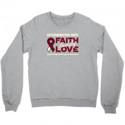 faith family love head and neck cancer for dark Crewneck Sweatshirt | Artistshot