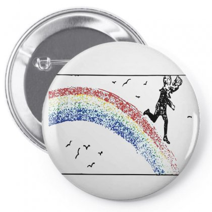 Running Down The Rainbow Pin-back Button Designed By Salmanaz