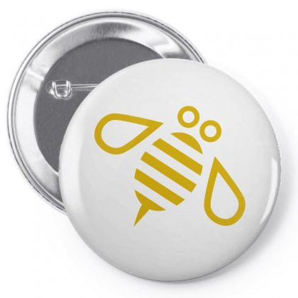 Gold Bee Vector Pin-back Button Designed By Salmanaz
