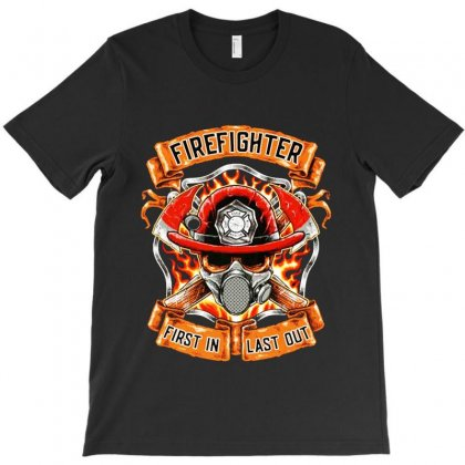 Fire Fighter T-shirt Designed By Bertaria