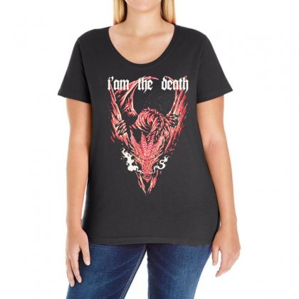 Evil Dragon Ladies Curvy T-shirt Designed By Bertaria