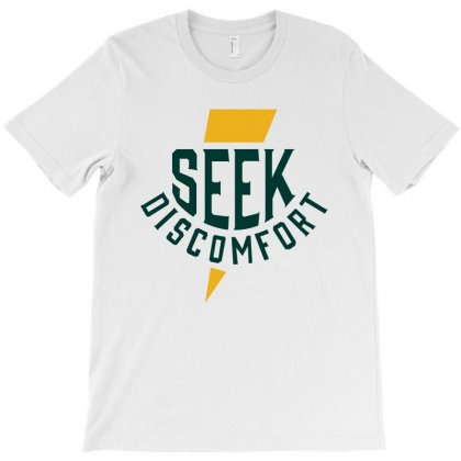 Seek Discomfort Thunder Bolt Alphine T-shirt Designed By Toweroflandrose