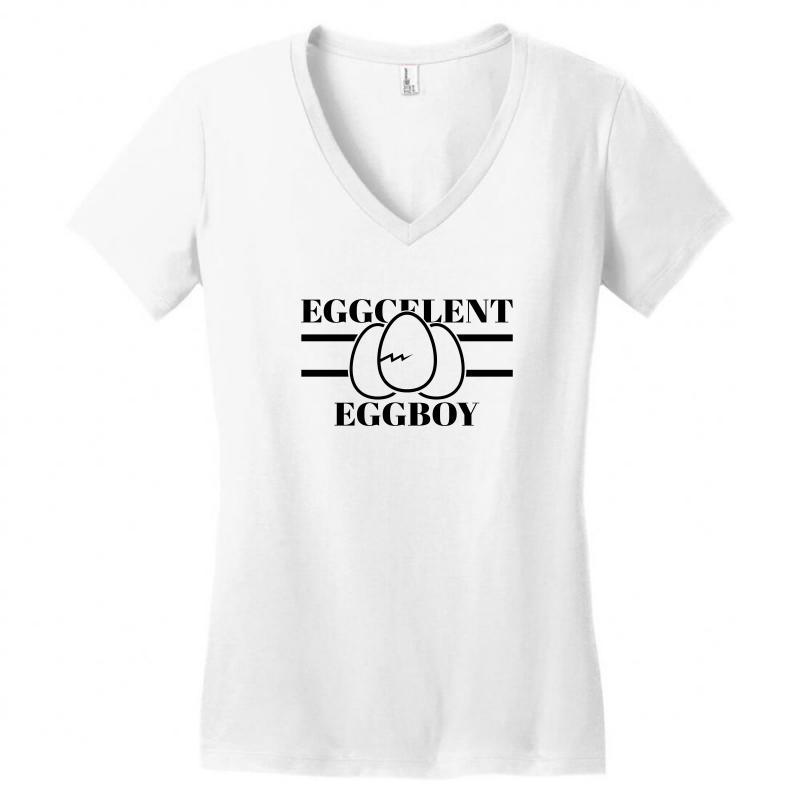 Eggcelent Eggboy For Light Women's V-neck T-shirt | Artistshot