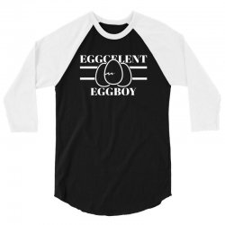 eggcelent eggboy for dark 3/4 Sleeve Shirt | Artistshot
