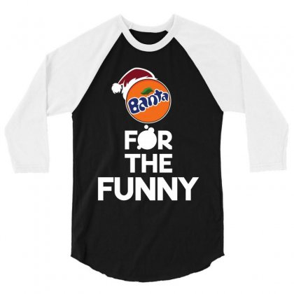 For The Funny  Merry Christmas Santa Banta 3/4 Sleeve Shirt Designed By Flupluto