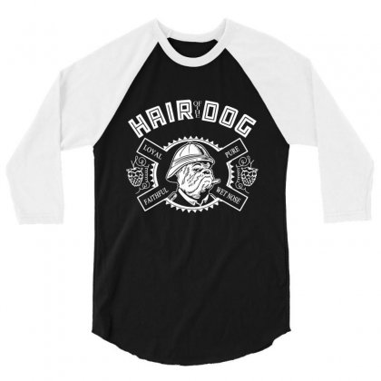 Hair Of The Dog 3/4 Sleeve Shirt Designed By Flupluto