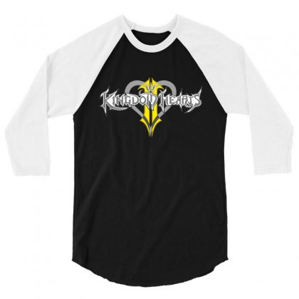 Kingdom Hearts 3/4 Sleeve Shirt Designed By Flupluto