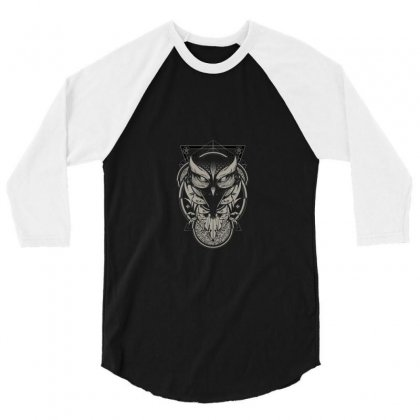 Owl 3/4 Sleeve Shirt Designed By Salmanaz