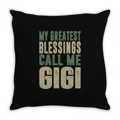 Greatest Gigi Throw Pillow Designed By Cidolopez