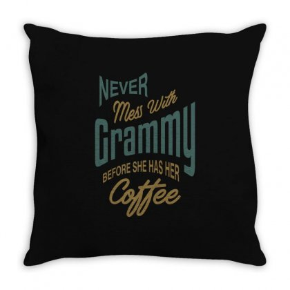 Never Mess With Grammy Throw Pillow Designed By Cidolopez