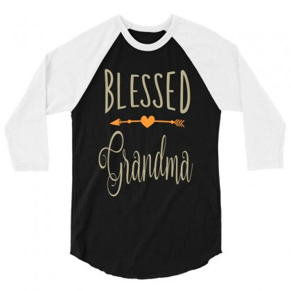 Blessed Grandma 3/4 Sleeve Shirt Designed By Cidolopez